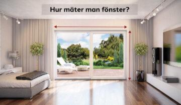 Hur mäter man fönster?